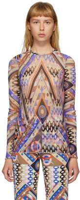 Emilio Pucci Multicolor Vivara Baby Print Long Sleeve T-Shirt