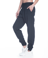 Gaiam Black Cara Stretch Woven Pants - Women