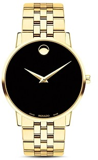 Movado Museum Classic Yellow Gold-Tone Watch, 40mm
