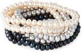Tara Pearls Set of 6 Pearl Stretch Bracelets