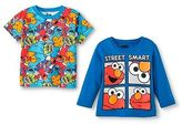 Sesame Street Toddler Boys' Long Sleeve T-Shirt - Blue