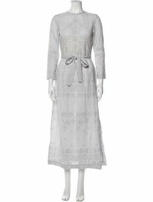 Innika Choo Crew Neck Midi Length Dress Grey