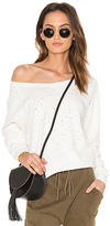 Bobi Ripped Terry Sweatshirt in White. - size XS (also in )