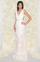 Mac Duggal Couture - 62867D Lace V-Neck Sheer Applique Evening Gown