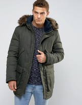 Jack Wills Downfilled Parka Detachable Faux Fur Trim