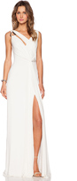 Halston Draped Cowl Back Gown