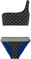 Stella McCartney Printed One-shoulder Bikini - Black