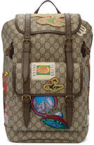 Gucci Beige GG Supreme Courrier Backpack