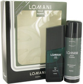 Lomani Gift Set for Men (3.4 oz Eau De Toilette Spray + 6.7 oz Deodorant Spray)