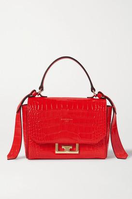 Givenchy Eden Mini Croc-effect Leather Shoulder Bag - Red