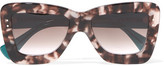 Roksanda + Cutler And Gross Square-frame Acetate Sunglasses