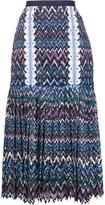 Saloni Pleated Midi Skirt