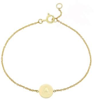 Auree Jewellery Westbourne 9Ct Yellow Gold Disc Initial Bracelet