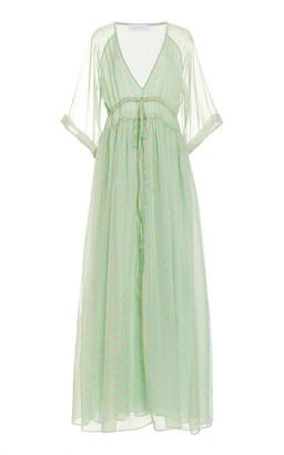 Eywasouls Malibu Liliane Printed Double-Layer Chiffon Dress