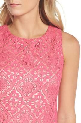 Brinker & Eliza Sleeveless Lace Shift Dress (Petite)