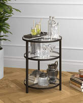 Helena Hudson&Canal Side Table In Blackened Bronze