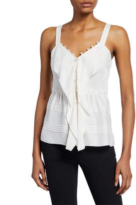 3.1 Phillip Lim Satin Cami with Pearlescent Details