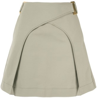 Dion Lee panelled A-line skirt