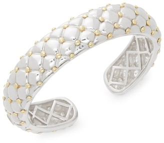 Charles Krypell Two-Tone Gold Sterling Silver Cuffs Bracelet