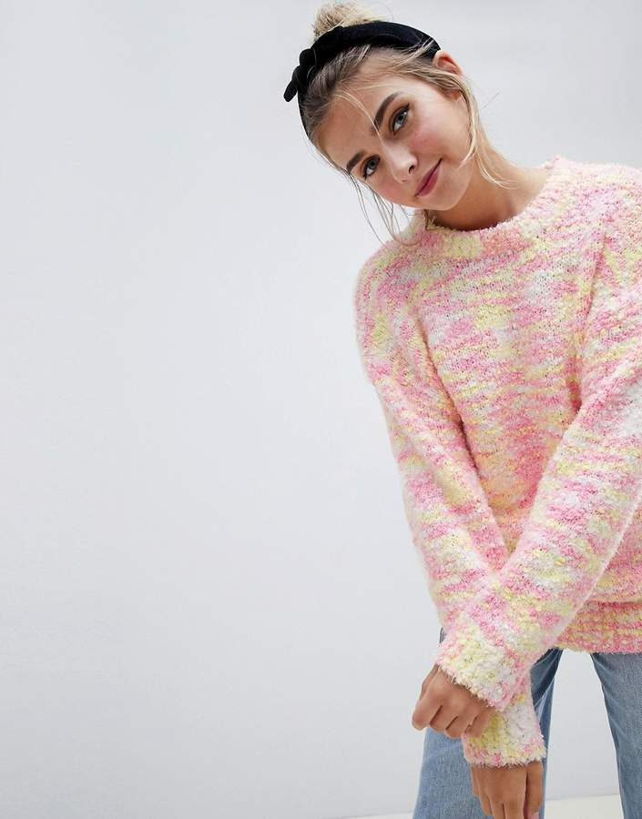 Asos (エイソス) - ASOS DESIGN Sweater In Pom Pom Space Dye Yarn