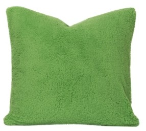 "Crayola Playful Plush Jungle Green 26"" Designer Euro Throw Pillow"