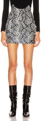 retrofete Fae Skirt in Silver Snakeskin | FWRD