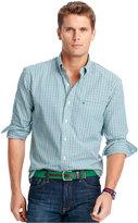 Izod Big and Tall Long-Sleeve Checked Shirt