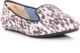 Charles Philip Shanghai Sheila drop-print satin slippers