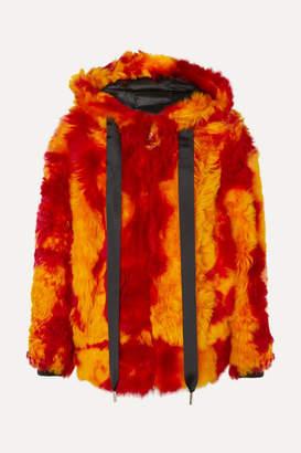 Marques Almeida Marques' Almeida - Hooded Printed Shearling Jacket - Orange