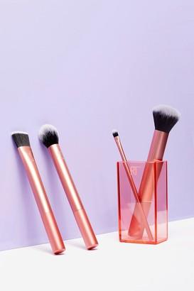 Nasty Gal Womens Real Techniques 4-Pc Cosmetic Brush Set - Orange - ONE SIZE, Orange