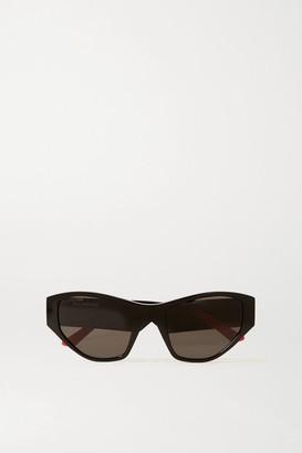 Balenciaga Round-frame Acetate Sunglasses - Black