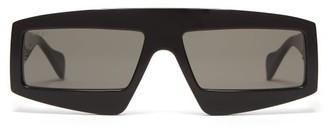 Gucci Rectangle Acetate Sunglasses - Mens - Black