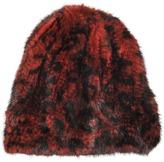 Yves Salomon Mink knitted fur beanie Leopard