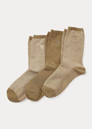 Ralph Lauren Stretch Cotton Sock 3-Pack