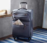 Pottery Barn Jasper Blue Canvas Wheeled Luggage