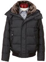 Andrew Marc Rockingham Down Faux-Fur Collar Bomber Jacket