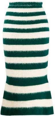 Marni Striped Mid-Length Skirt