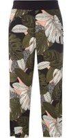 Dorothy Perkins Womens Blush And Khaki Cropped Big Leaf Print Trousers- Pink