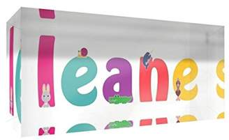 clear Little Helper Souvenir Decorative Polished Acrylic Diamond Style Colour Example with Girl's Name Leane 5 x 21 x 2 cm Large