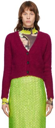 Dries Van Noten Pink Mohair Cardigan