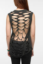 Truly Madly Deeply Shredded-Back Crescent Tee
