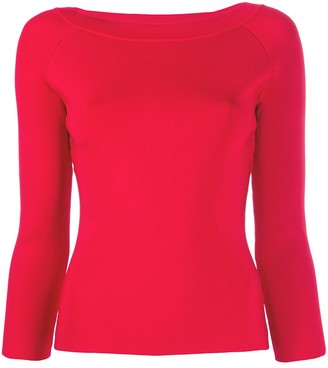 Emporio Armani Three-Quarter Sleeve Fitted Top