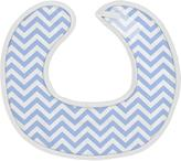 Kushies Chin Drool Bib Terry- Newborn Blue Chevron