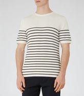 Reiss Edmond - Breton Stripe Jumper in White, Mens