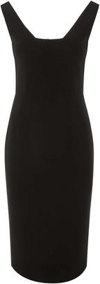 Dolce & Gabbana SHEATH DRESS 42 Black Wool
