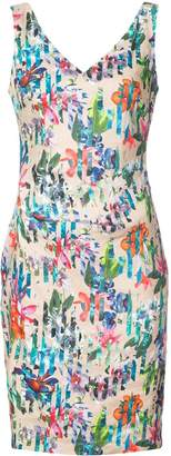Nicole Miller Kenna tropical print V-neck dress