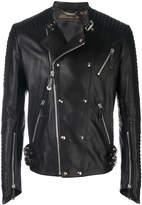Philipp Plein Antosha leather biker jacket