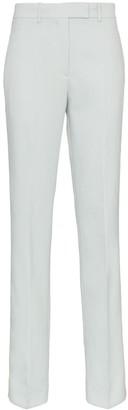 Calvin Klein Straight Leg Wool Trousers with Tuxedo Stripe