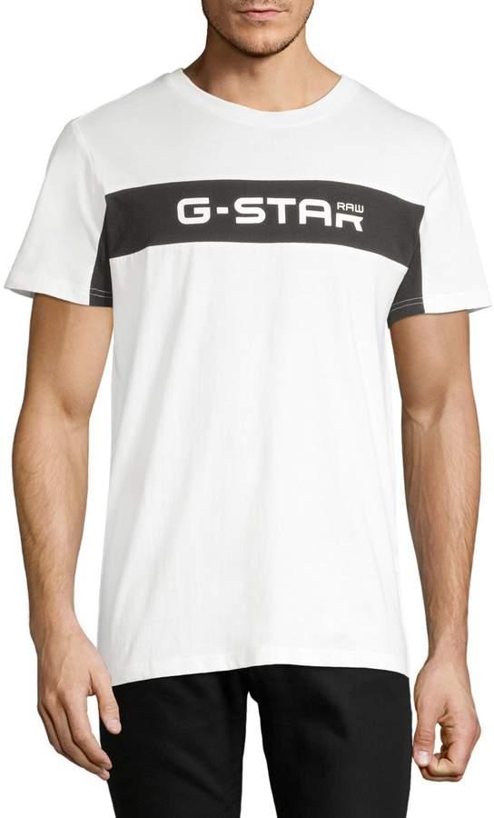 G Star Raw Logo Cotton Tee
