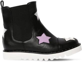 Stella Mccartney Kids Stars Lightweight Faux Leather Boots